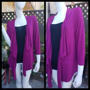 Flutter Front Long Sleeve Jacket - Large